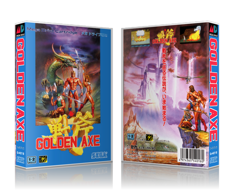 Genesis Golden Axe Sega Megadrive REPLACEMENT GAME Case Or Cover