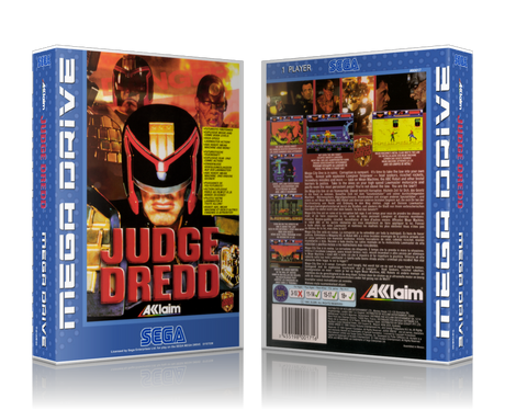 Genesis Judge Dredd Sega Megadrive REPLACEMENT GAME Case Or Cover