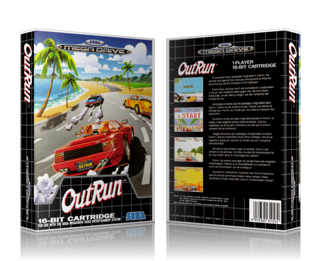 Genesis Outrun EU Sega Megadrive REPLACEMENT GAME Case Or Cover