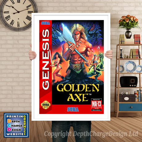 Golden Axe 3 (2) - Sega Megadrive Inspired Retro Gaming Poster A4 A3 A2 Or A1