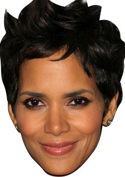 Halle Berry Bond Celebrity Face Mask FANCY DRESS HEN BIRTHDAY PARTY FUN STAG DO HEN
