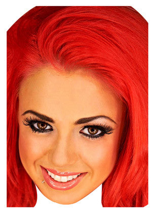 Holly Red Hair Geordie Shore Celebrity Face Mask FANCY DRESS HEN BIRTHDAY PARTY FUN STAG DO HEN