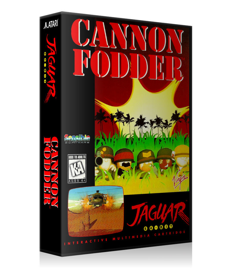 Atari Jaguar Cannon Fodder Cover Or Case