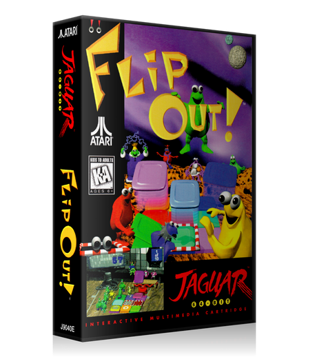 Atari Jaguar Flipout REPLACEMENT Game Case Or Cover