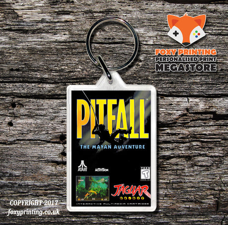 Pitfall - Game Inspired Retro Gaming Keyring