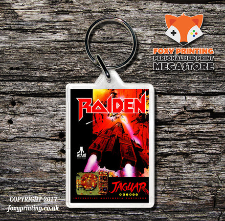 Raiden - Game Inspired Retro Gaming Keyring