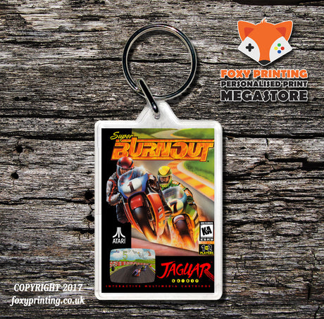 Super Burnout - Game Inspired Retro Gaming Keyring