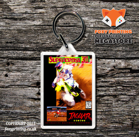 Supercross 3d - Game Inspired Retro Gaming Keyring