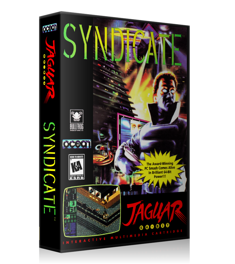 Atari Jaguar Syndicate REPLACEMENT Game Case Or Cover