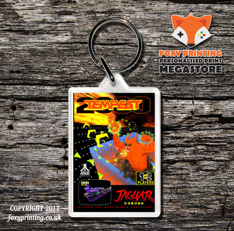 Tempest 2000 (1) - Game Inspired Retro Gaming Keyring