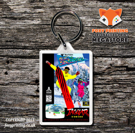 Valdisere Skiing And Snowboarding - Game Inspired Retro Gaming Keyring