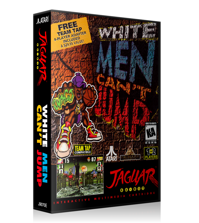 Atari Jaguar White Men Cant Jump REPLACEMENT Game Case Or Cover