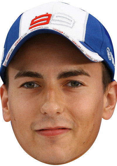 Jorge Lorenzo SPORTS Celebrity Face Mask FANCY DRESS HEN BIRTHDAY PARTY FUN STAG DO HEN