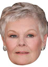 Judi Dench Bond Actress Celebrity Face Mask FANCY DRESS HEN BIRTHDAY PARTY FUN STAG DO HEN