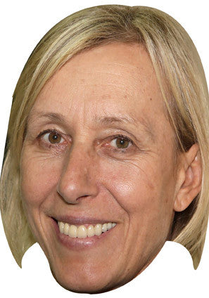 Martina Navratilova Tennis Celebrity Face Mask FANCY DRESS HEN BIRTHDAY PARTY FUN STAG DO HEN