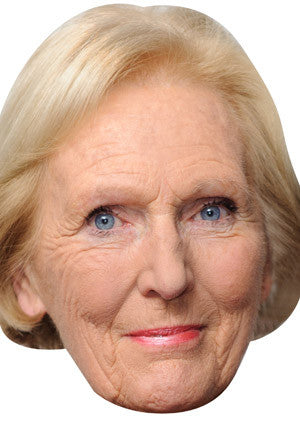 Mary Berry Celebrity Face Mask FANCY DRESS HEN BIRTHDAY PARTY FUN STAG DO HEN