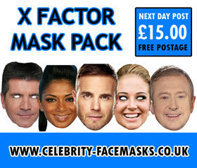 X Factor Judges Mask Pack Celebrity Face Mask FANCY DRESS HEN BIRTHDAY PARTY FUN STAG DO HEN