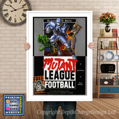 Mutant League Football - Sega Megadrive Inspired Retro Gaming Poster A4 A3 A2 Or A1