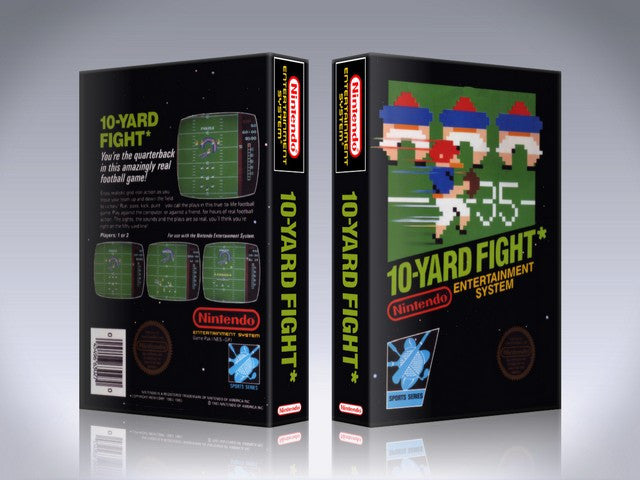 NES 10 Yard Fight Retail Game Cover To Fit A UGC Style Replacement Game Case