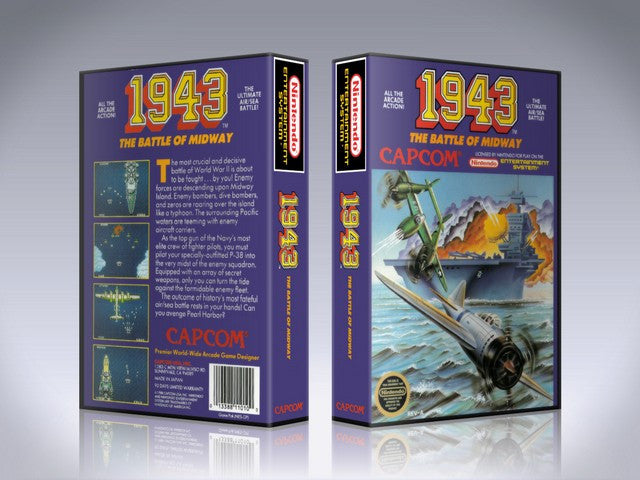 NES 1943 The Battle Of Midway Retail Game Cover To Fit A UGC Style Replacement Game Case