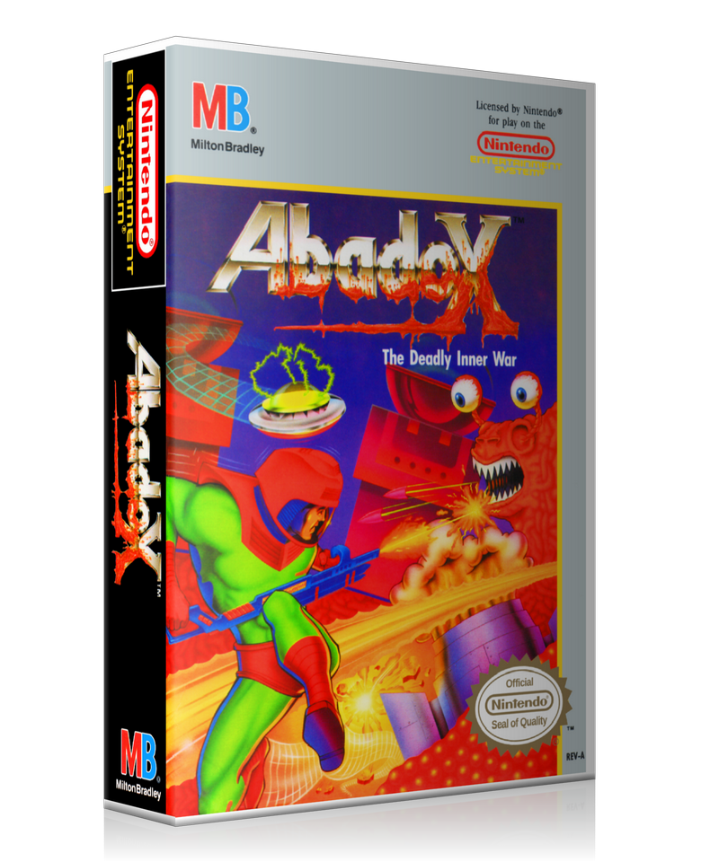 NES Abadox Retail Game Cover To Fit A UGC Style Replacement Game Case