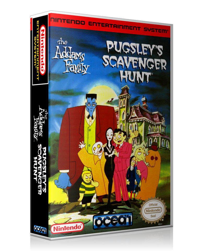 NES The Addams Family Pugsley's Scavenger Hunt Retail Game Cover To Fit A UGC Style Replacement Game Case