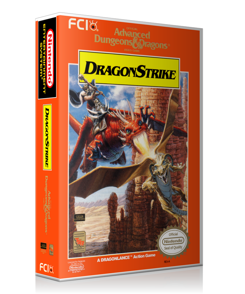 NES ADD Dragonstrike Retail Game Cover To Fit A UGC Style Replacement Game Case