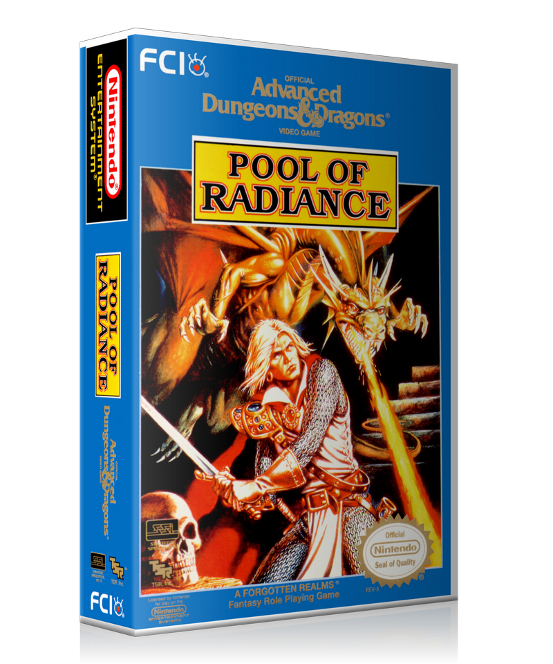 NES ADD Pool Of Radiance Retail Game Cover To Fit A UGC Style Replacement Game Case