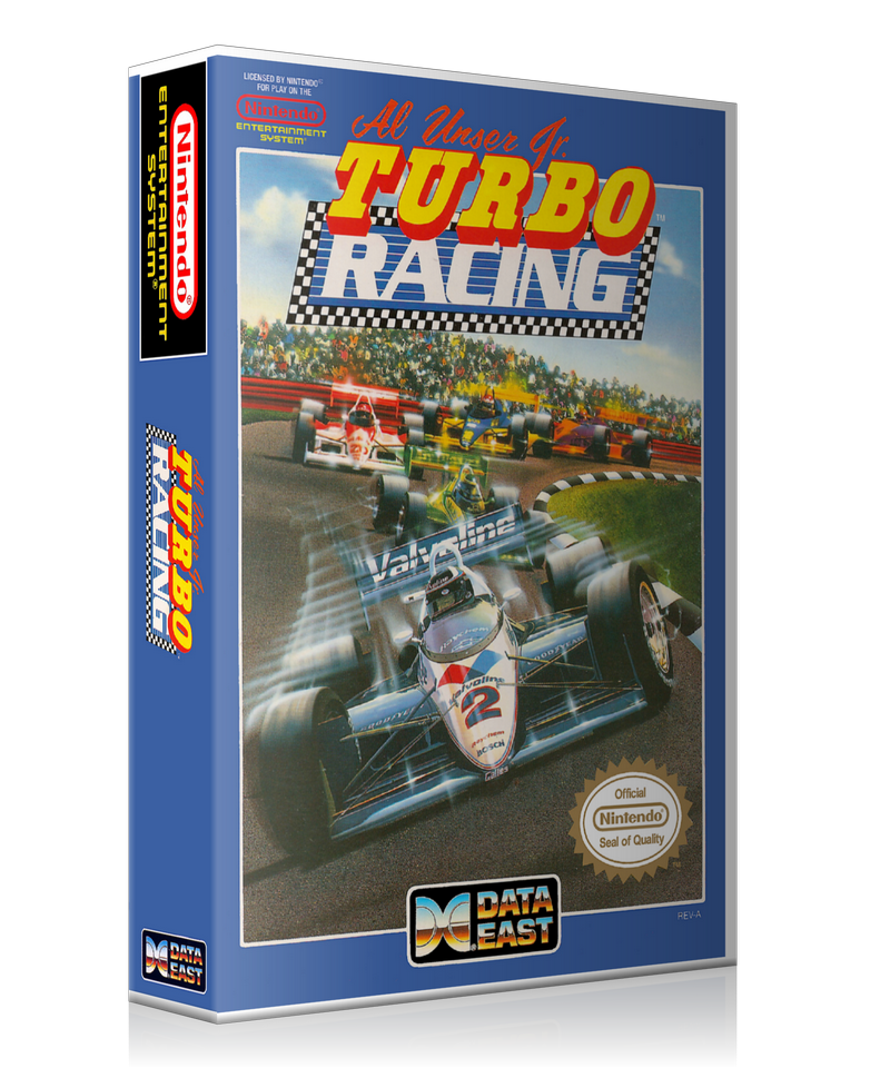 NES Al Unser Jr. Turbo Racing Retail Game Cover To Fit A UGC Style Replacement Game Case