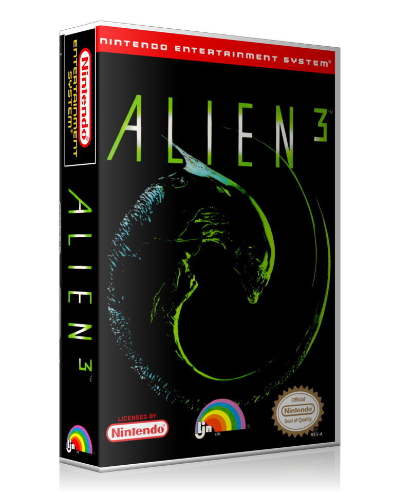 NES Alien 3 Retail Game Cover To Fit A UGC Style Replacement Game Case
