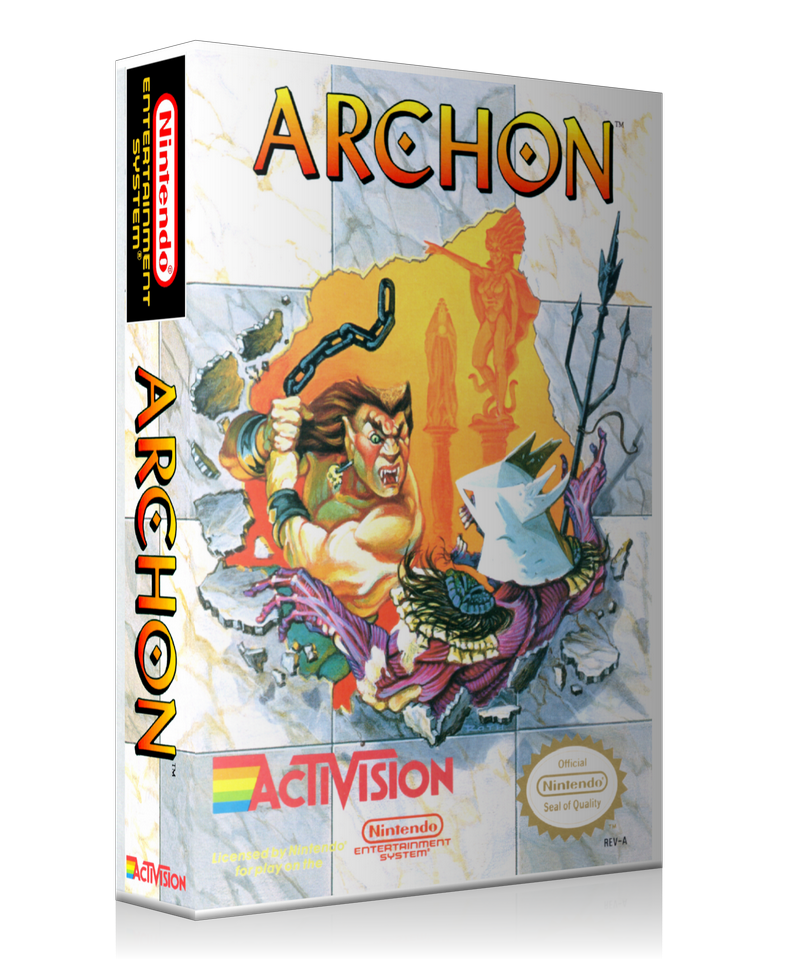 NES Archon Retail Game Cover To Fit A UGC Style Replacement Game Case