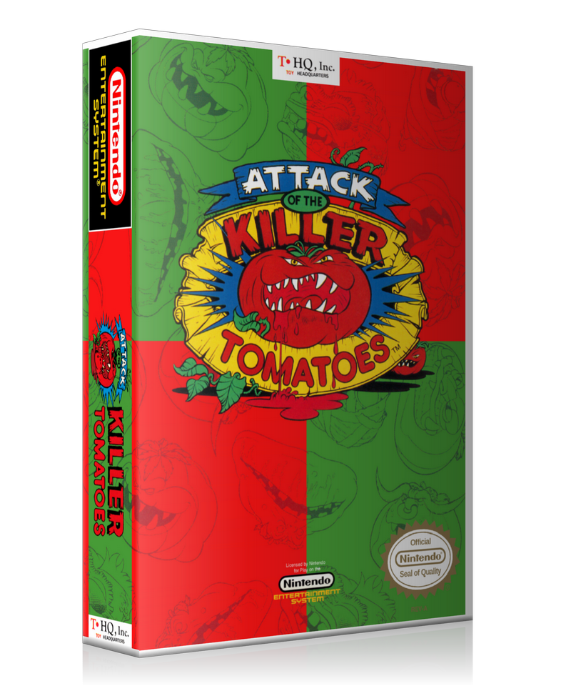 NES Attack Of The Killer Tomatoes Retail Game Cover To Fit A UGC Style Replacement Game Case