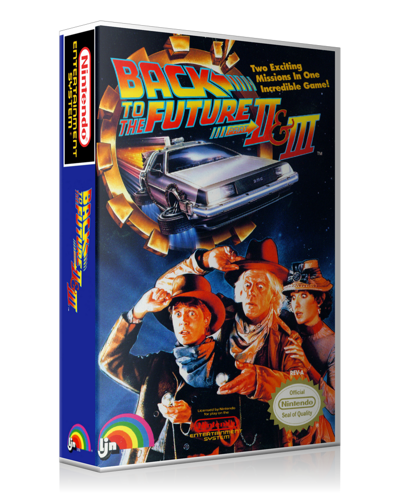 NES Back To The Future Part 2 And 3 Retail Game Cover To Fit A UGC Style Replacement Game Case