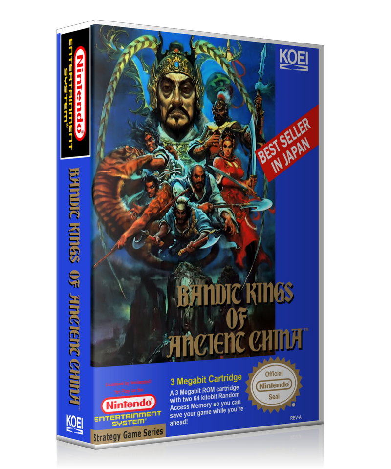 NES Bandit Kings Of Ancient China Retail Game Cover To Fit A UGC Style Replacement Game Case