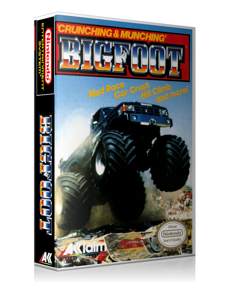 NES Bigfoot Retail Game Cover To Fit A UGC Style Replacement Game Case