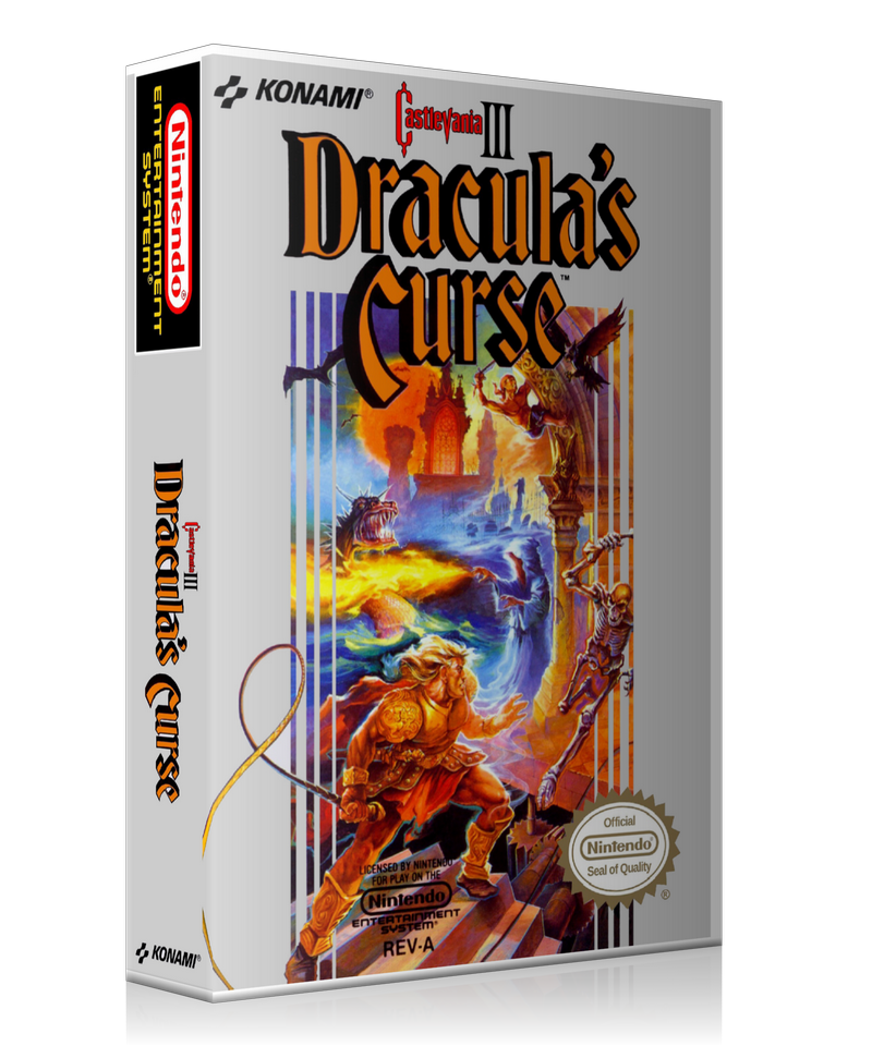NES Castlevania 3 Dracula's Curse Retail Game Cover To Fit A UGC Style  Replacement Game Case