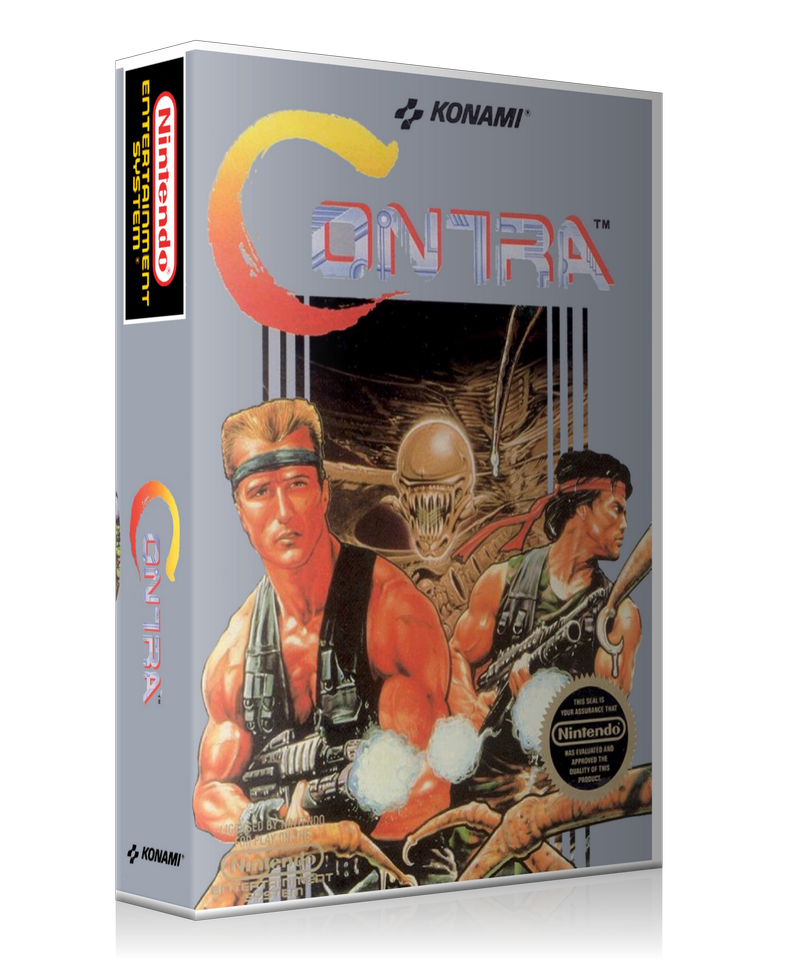 NES Contra Retail Game Cover To Fit A UGC Style Replacement Game Case