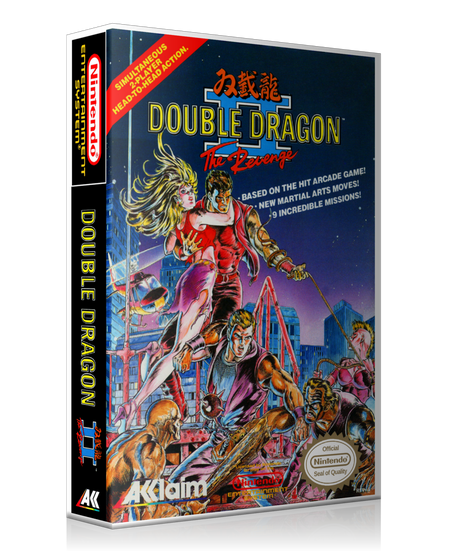 NES Double Dragon II Retail Game Cover To Fit A UGC Style Replacement Game Case