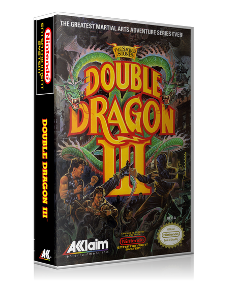 NES Double Dragon III Retail Game Cover To Fit A UGC Style Replacement Game Case