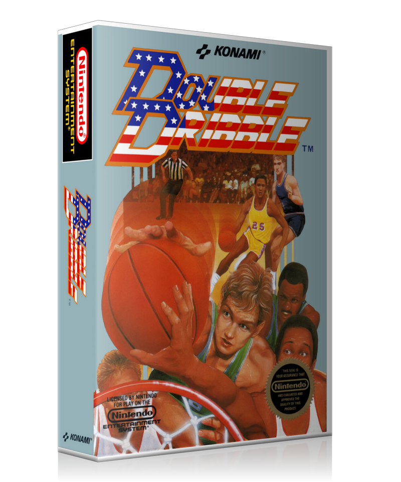NES Double Dribble Retail Game Cover To Fit A UGC Style Replacement Game  Case