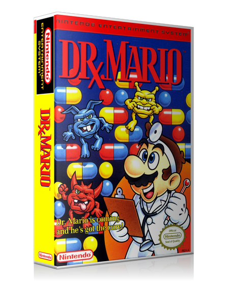 NES Dr. Mario Retail Game Cover To Fit A UGC Style Replacement Game Case
