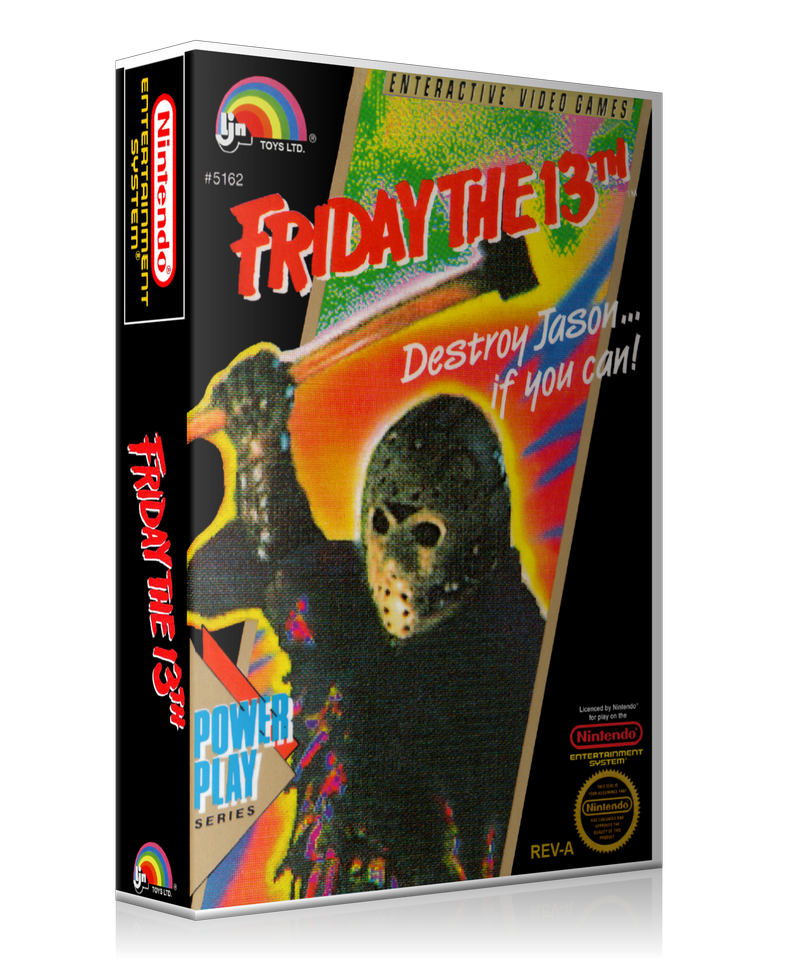 NES Friday The 13th Retail Game Cover To Fit A UGC Style Replacement Game Case