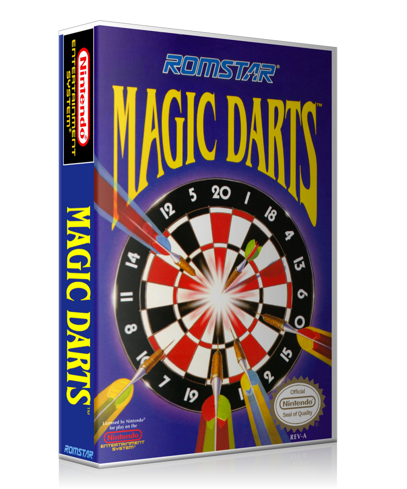 NES Magic Darts Retail Game Cover To Fit A UGC Style Replacement Game Case