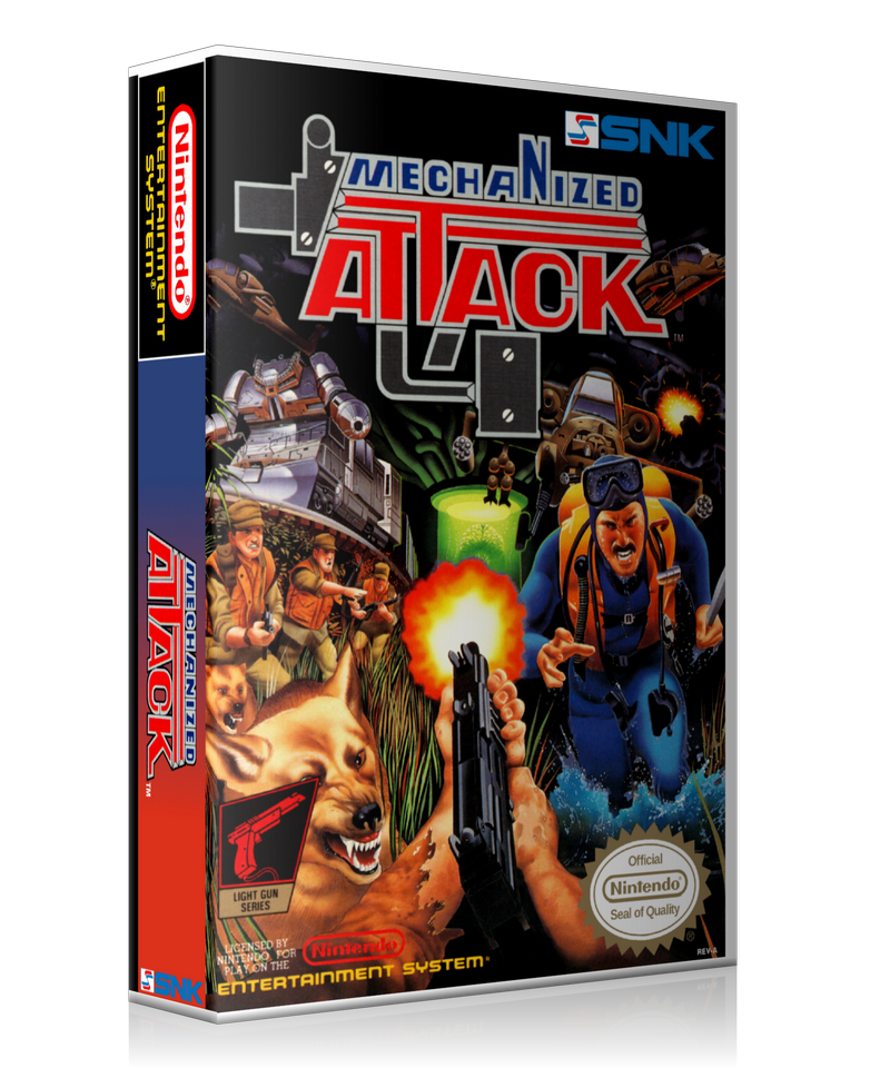 NES Mechanized Attack Retail Game Cover To Fit A UGC Style Replacement Game Case