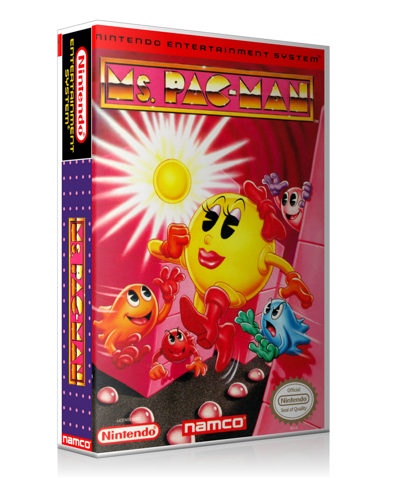 NES Ms. Pacman Namco Retail Game Cover To Fit A UGC Style Replacement Game Case
