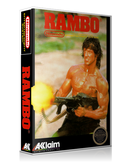 NES Rambo Retail Game Cover To Fit A UGC Style Replacement Game Case