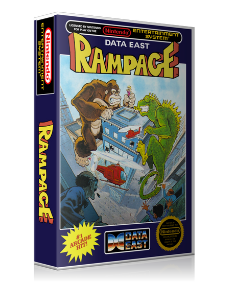 NES Rampage Retail Game Cover To Fit A UGC Style Replacement Game Case