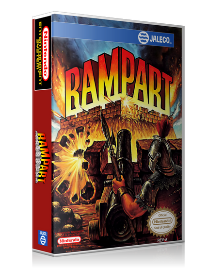 NES Rampart Retail Game Cover To Fit A UGC Style Replacement Game Case