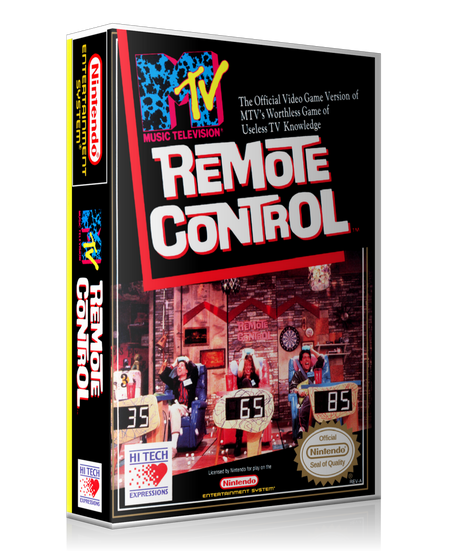 NES Remote Control Retail Game Cover To Fit A UGC Style Replacement Game Case