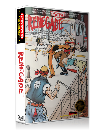 NES Renegade Retail Game Cover To Fit A UGC Style Replacement Game Case